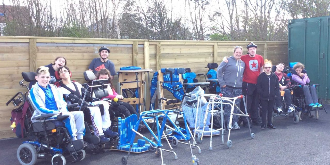 Percy Hedley School donates specialist equipment to disability charity in Africa