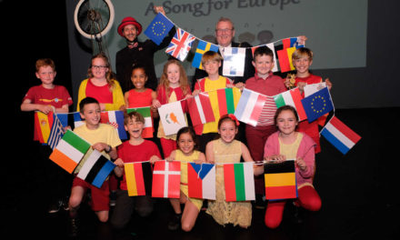 Multi-lingual school children wow at North East 'Song for Europe'