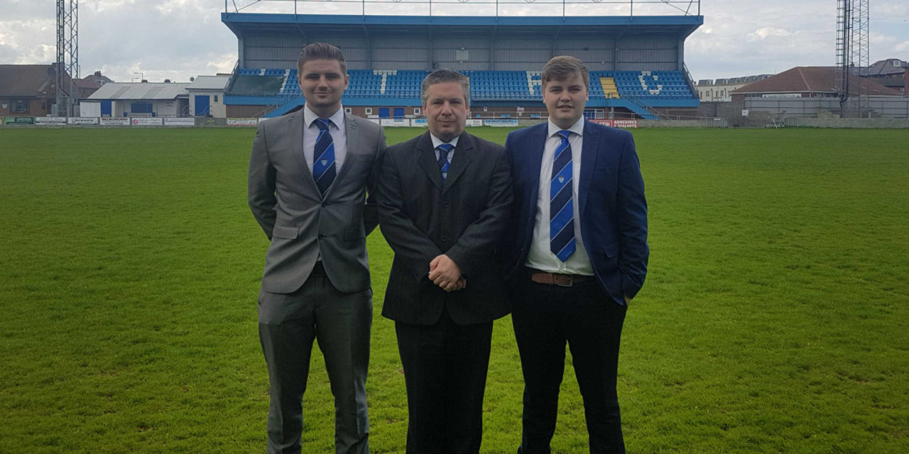 Students flying the flag for Whitby Town FC