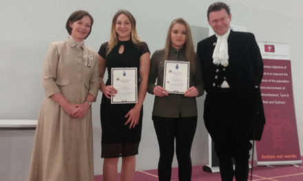 Youth clubs receive award from High Sheriff of Northumberland