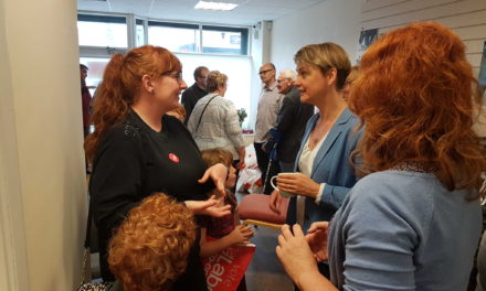 Yvette Cooper joins Anna Turley on the campaign trail in Redcar