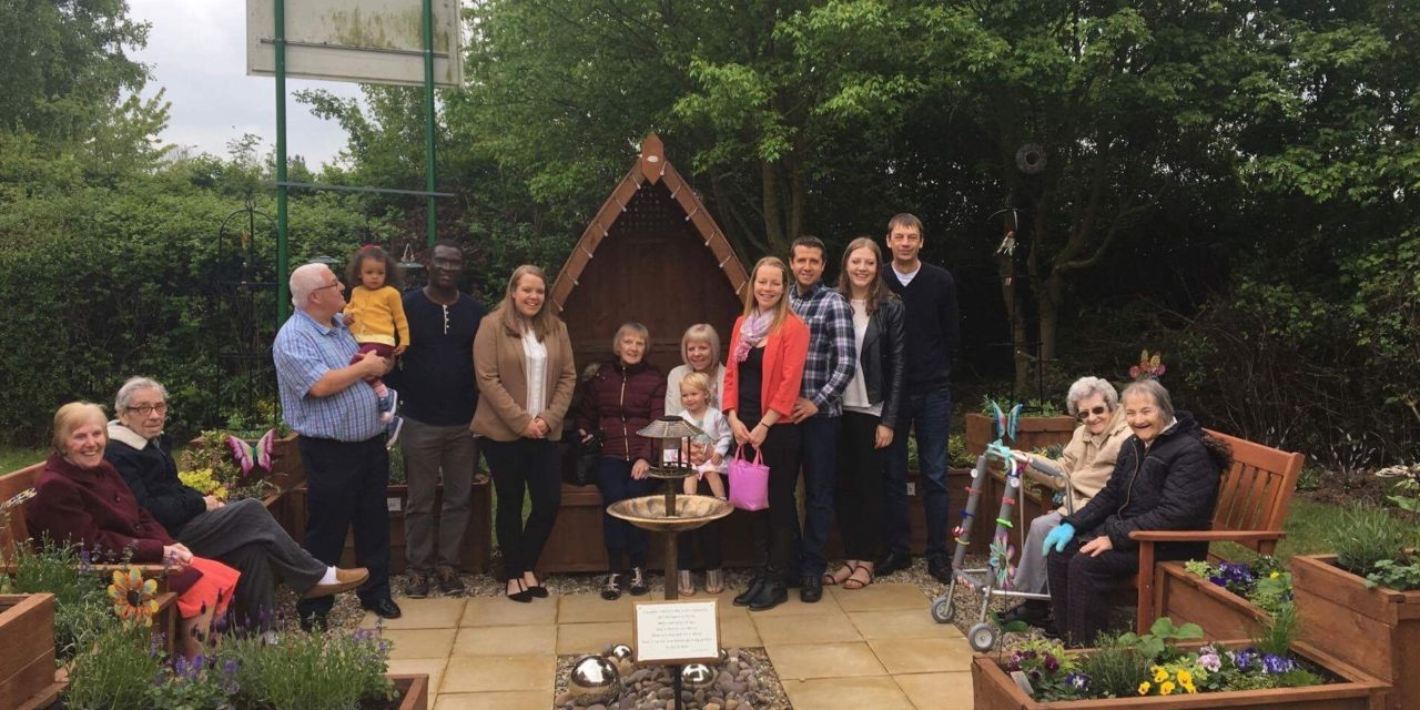 Charitable family create sensory garden in memory of  grandmother Dot