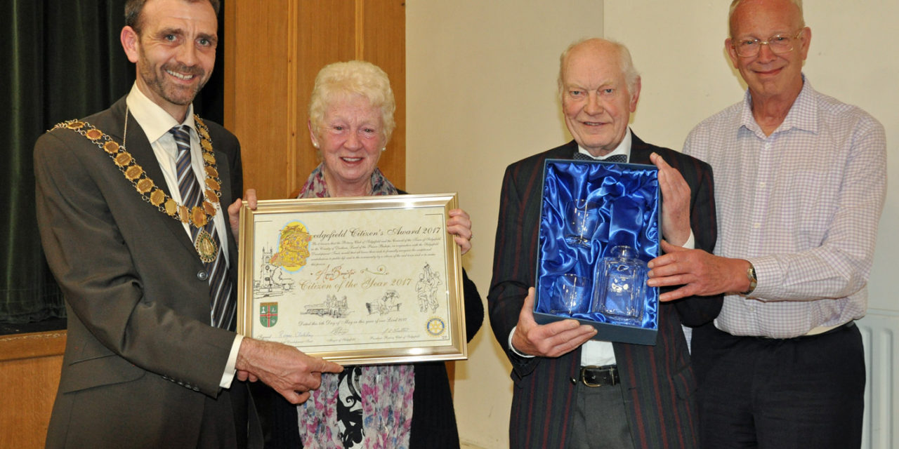 Community champion honoured in Sedgefield