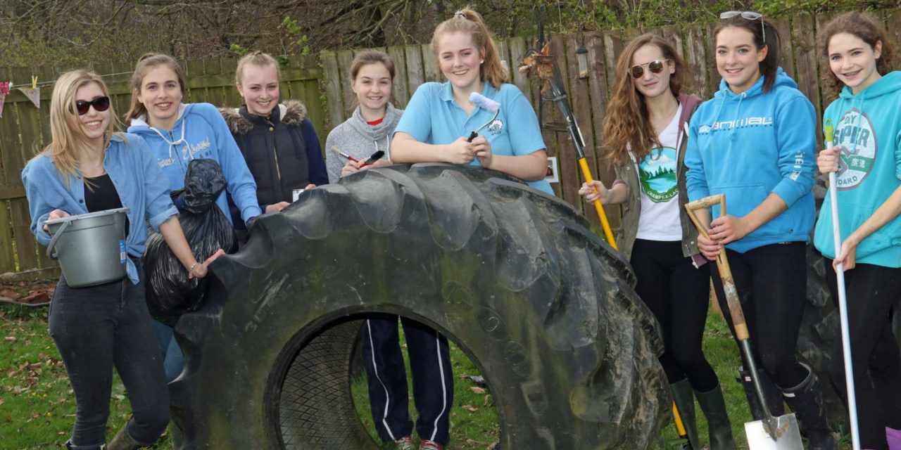 Hardworking students transform nursery gardens