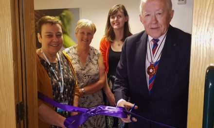 Vice Lord Lieutenant opens Butterwick Hospice's upgraded patient rooms
