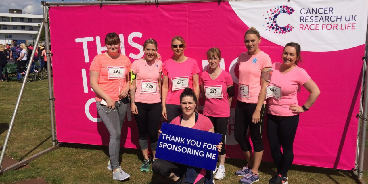 On a Roll celebrates Race for Life fundraising success