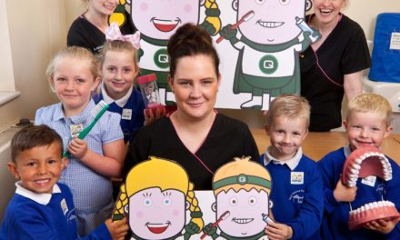 Schoolchildren brush up on dental education with Queensway