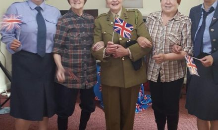 Care home residents visit the past on Armed Forces Day