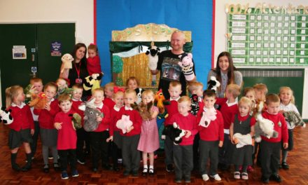 Grandparent Wins a Sunderland School a Free Puppet Show
