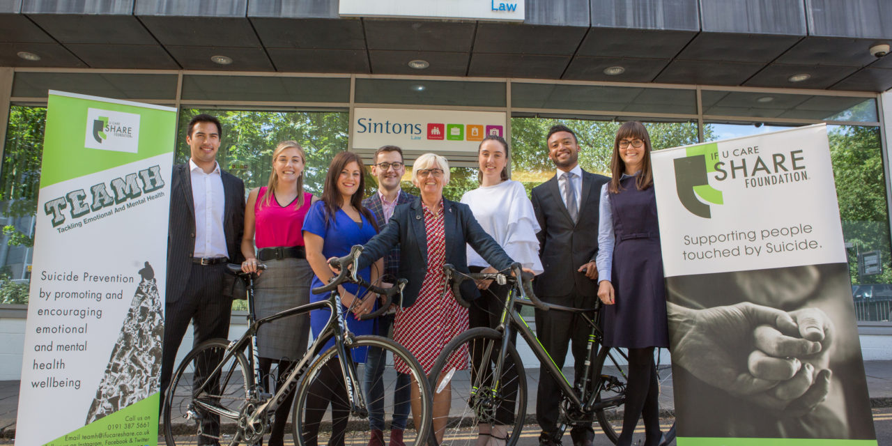 Trainees get on their bikes for charity