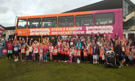 Go North East's Metro Radio Bus drives the crowds at Children's Cancer Run