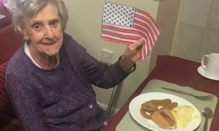 USA in Stockton with care home's Independence Day party