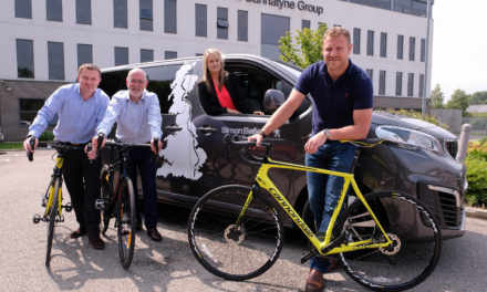 Bannatyne Directors head off on charity cycle ride with support from Simon Bailes Peugeot