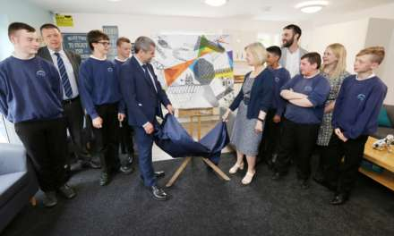 Artistic inspiration strikes at new supported homes