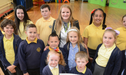 Local school receives star treatment from award winning housebuilder