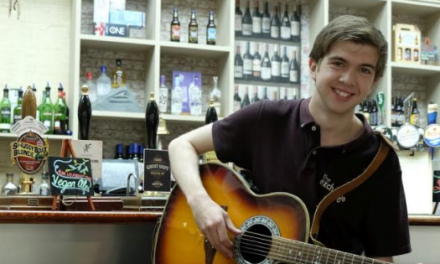 Barman launches album at the venue where he tends bar!
