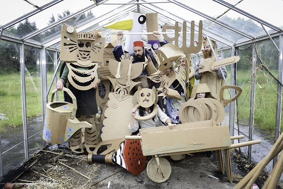 Cardboard creativity takes hold ahead of the Festival of Thrift