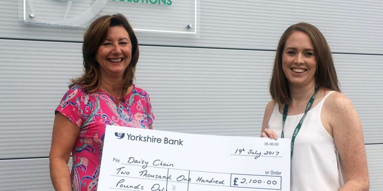 Nortech Group's charity day for Daisy Chain cheques out