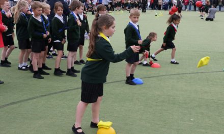 Academy's youngest students compete in sports days
