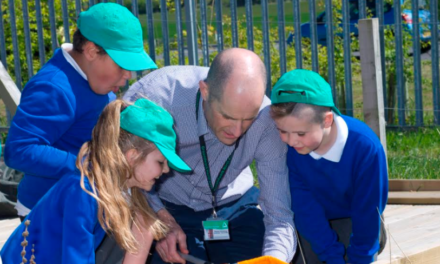 New outdoor classroom and garden helps youngsters learn about recycling
