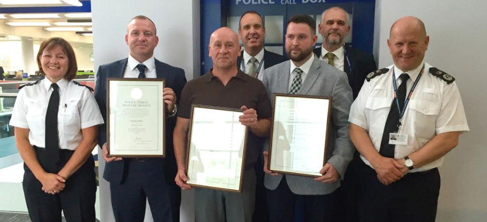 Bravery awards for men who saved woman from horrific domestic attack