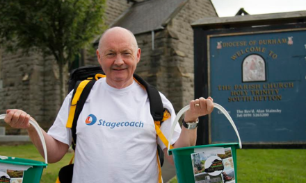 Alan Swaps Wheels for Walking on 100 Mile Coast to Coast Trek for Village Church Roof