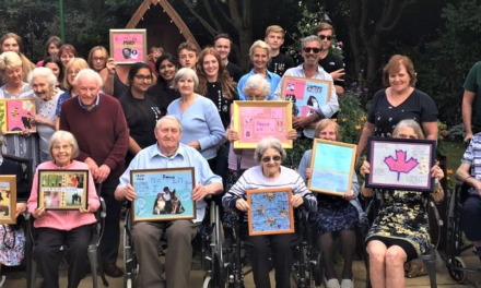 Teens take care home residents for walk down memory lane