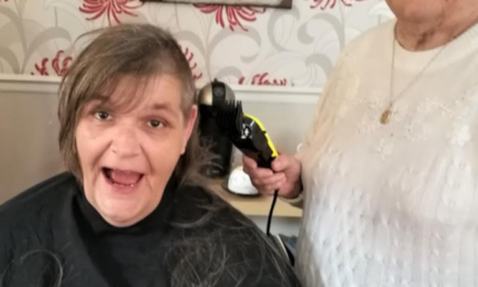Head shave raises over £700 for elderly care home residents