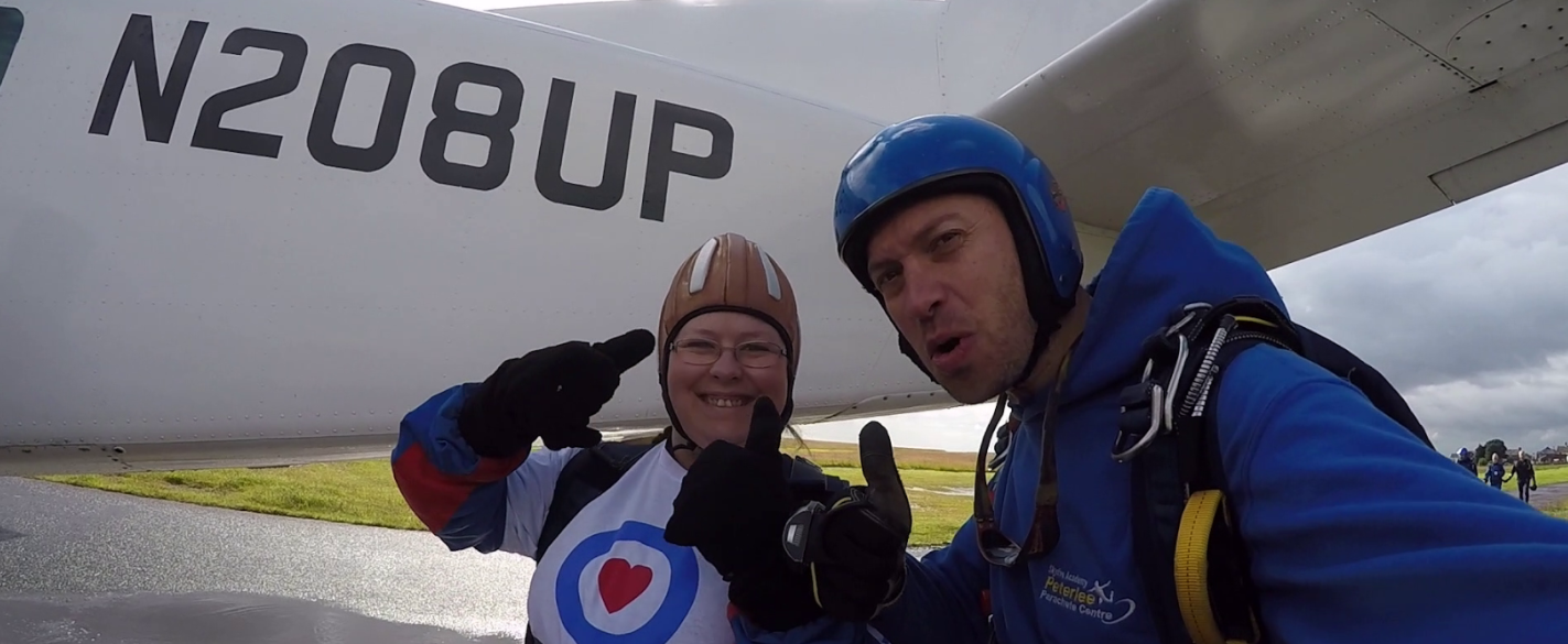 Reaching for the stars – Ceri remembers RAF father with skydive