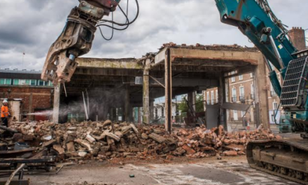 Bulldozers Move in to Clear Site for Stockton's New Hampton by Hilton Hotel
