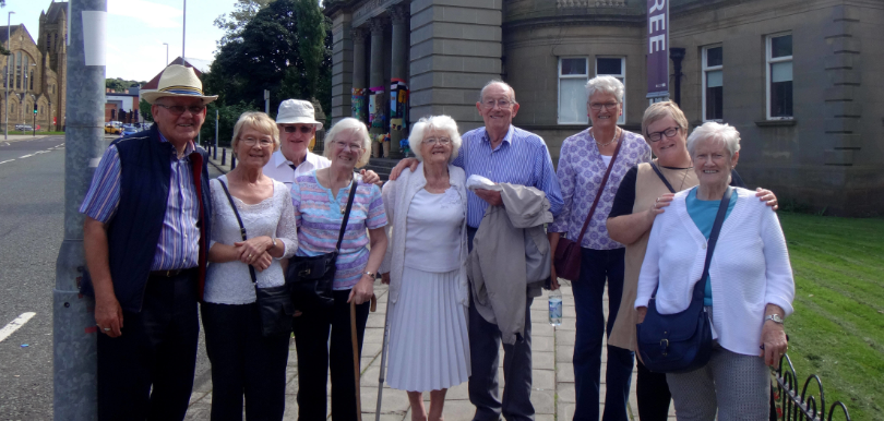 Age UK North Tyneside's Time Travellers Get Together To Pin Their Past