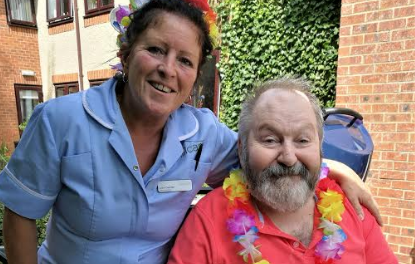 Hawaii comes to Pelton Grange Care Home for summer BBQ
