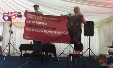 Consett Sunderland Supporters Club raise over £38,000 for Willow Burn Hospice!