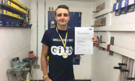 Skill Build competition success for dedicated young plasterer from Northumberland College