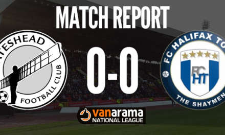 Match Report: Gateshead FC 0 – 0 Halifax FC