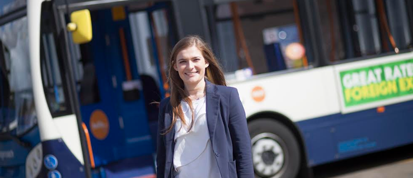 Graduate Chloe takes on Operations Role at Teesside Bus Depot