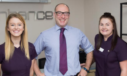 Dental practice smiling after quadruple apprenticeship success