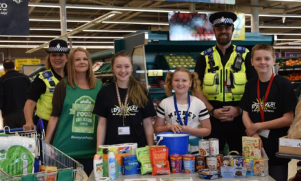 Young people help boost depleted food stock levels