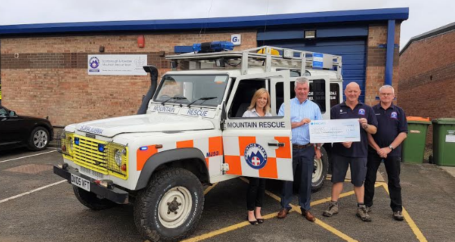 Touchdown Offices Ltd donates £3k to Scarborough and Ryedale Mountain Rescue