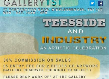 Teesside & Industry at Gallery TS1 artist call-out
