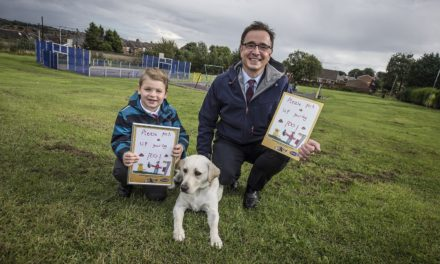 Alex and Labrador Lily inspire dog owners to follow their lead