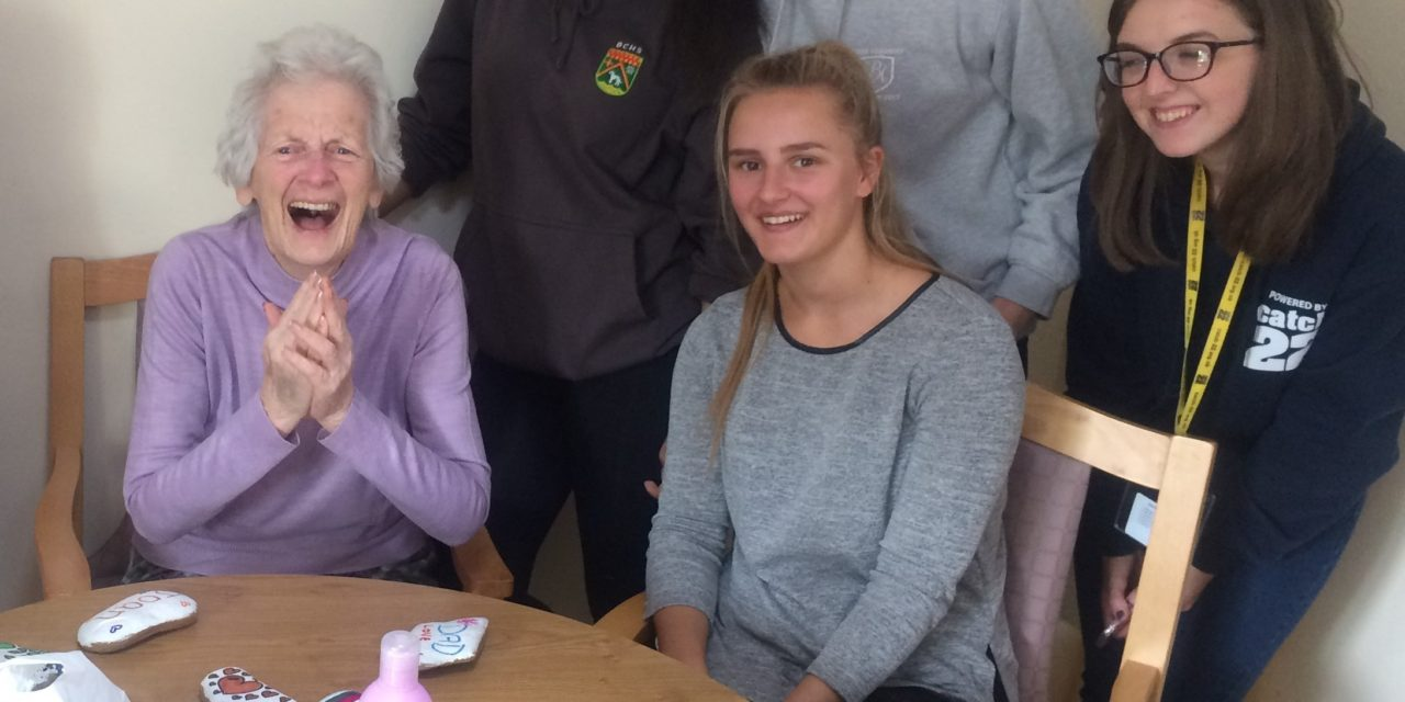Elderly and young take part in social media sensation