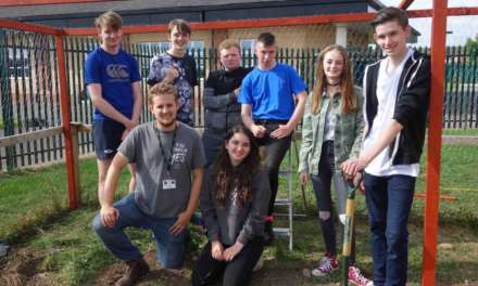 Young volunteers help create a brighter future