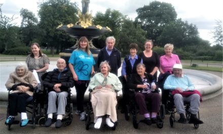 Care home residents' Memory Walk raises funds for charity
