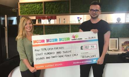 Visualsoft raises £800 for children's charity