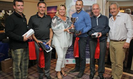 Golfers help crack £200,000 fundraising barrier for popular hospice