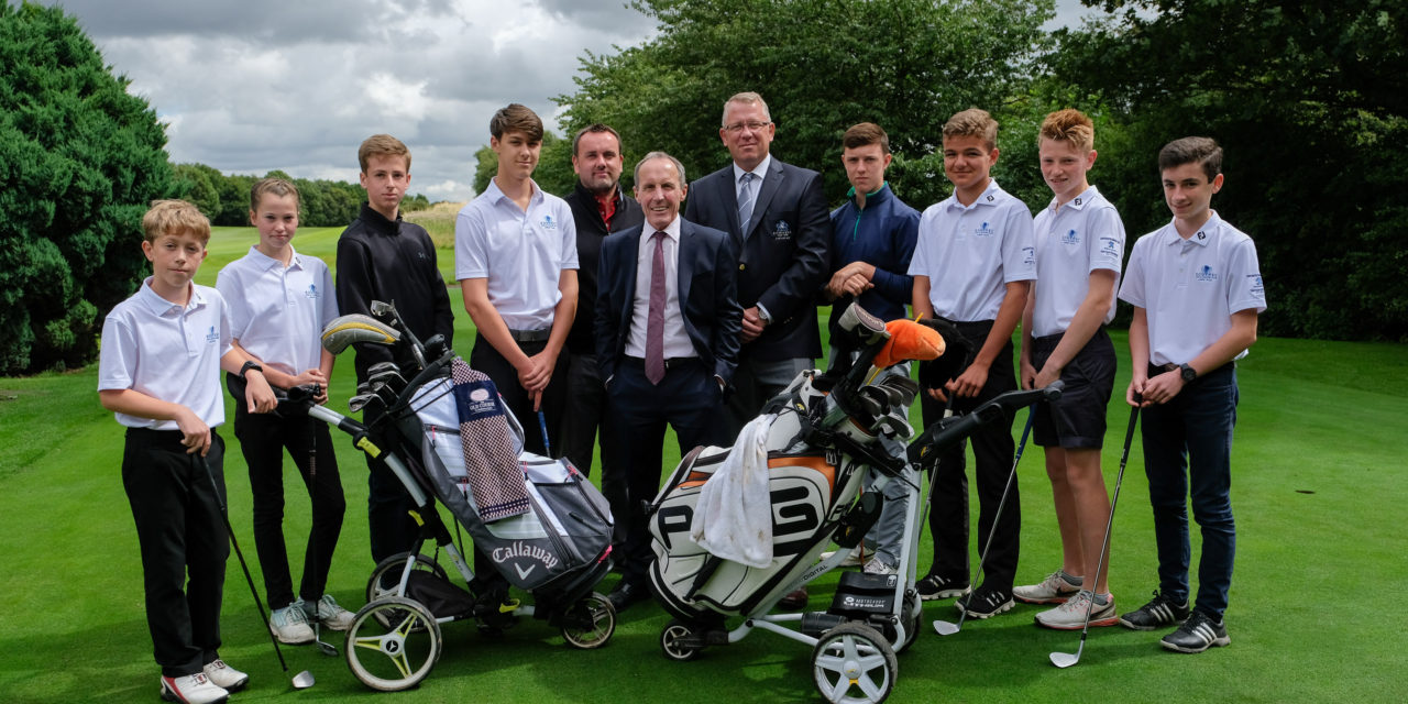 Simon Bailes supports young Northallerton golfers for 15th year