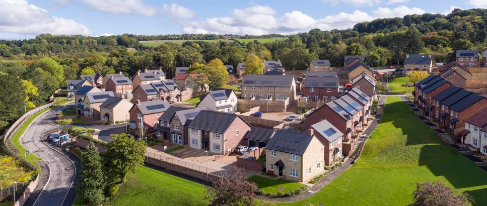 New aerial images show that Story Homes' first North East development is nearing completion