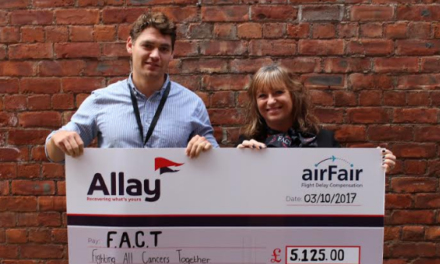 Newcastle Business Allay Raises Over £5,000 for North East Cancer Charity