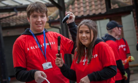 Students hit the streets for city centre clean-up
